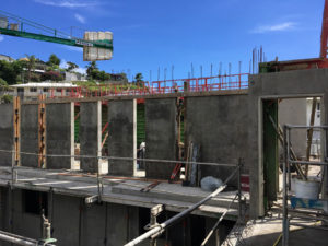 construction de la résidence Clos Sainte Amélie à Papeete