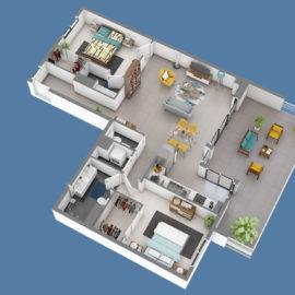 Résidence SKY NUI T3+ plan