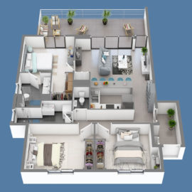 Résidence SKY NUI T4 plan