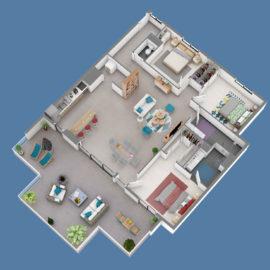 Résidence SKY NUI T4+ plan