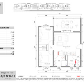 Résidence Mateata plan F3c