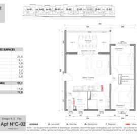 Résidence Mateata plan F3a