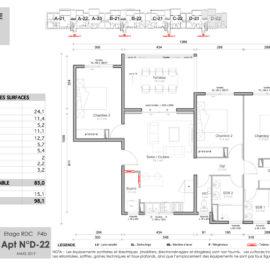 Résidence Mateata plan F4b