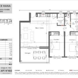 Residence Hana plan F3